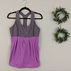 Lululemon Power Dance Tank Heathered Ultra Violet